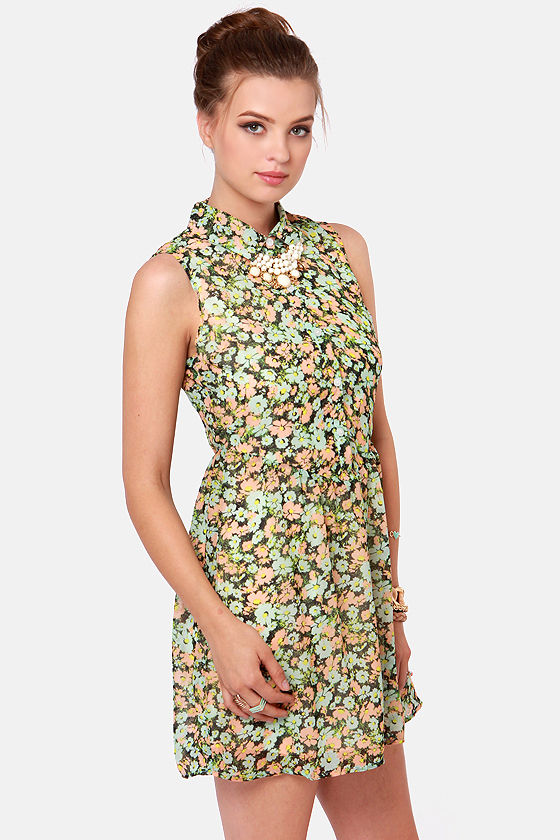 Volcom Not So Classic Floral Print Dress at Lulus.com!