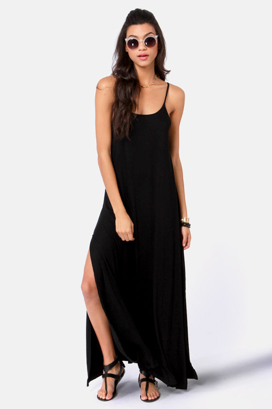 Such Great Heights Black Maxi Dress at Lulus.com!
