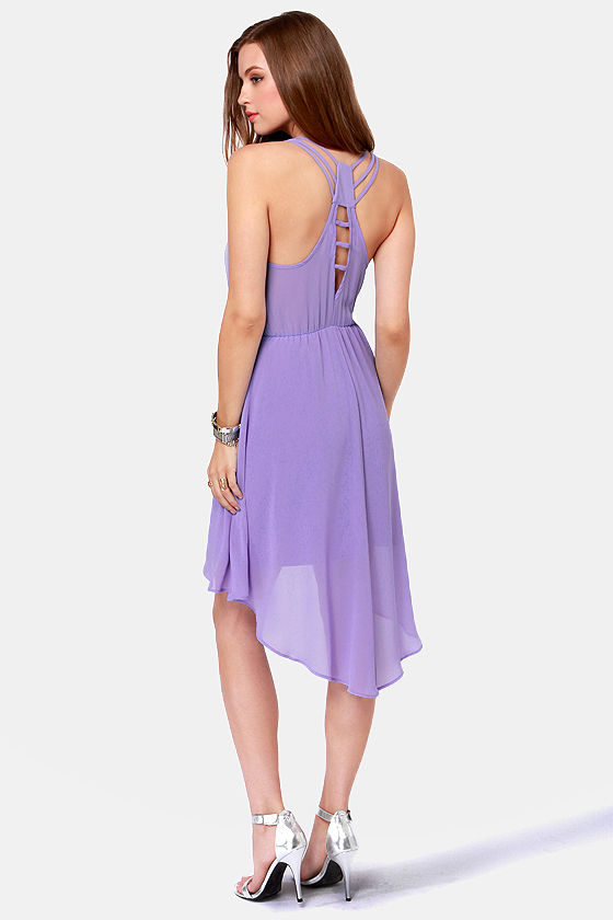 Pretty Lavender Dress - High-Low Dress - $42.00