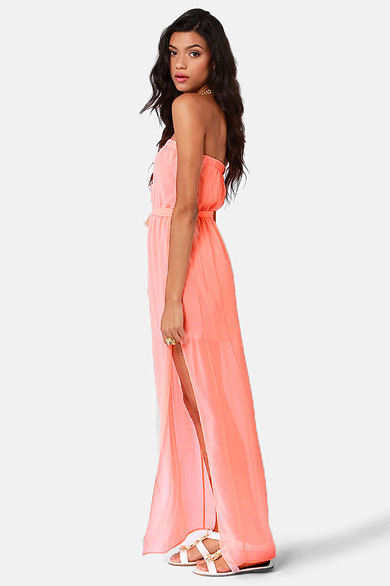 Women's Pink Maxi Dress With Knot Detail - Neon Coral See more T-bags Dresses. Subscribe to the latest from T-bags. Try these instead. Felicity & Coco Strapless Neon Print Maxi Dress $78 Nordstrom Felicity & Coco Strapless Neon Print Maxi Dress $78 Nordstrom T-bags Zig Zag Maxi Dress $ $39 (80% off) Boohoo Neon Unicorn Print Dressing GownPrice: $