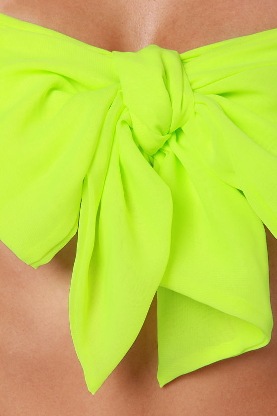 Havana Cabana Highlighter Yellow Bandeau Top at Lulus.com!