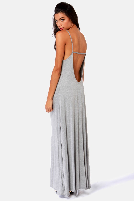 Such Great Heights Grey Maxi Dress at Lulus.com!