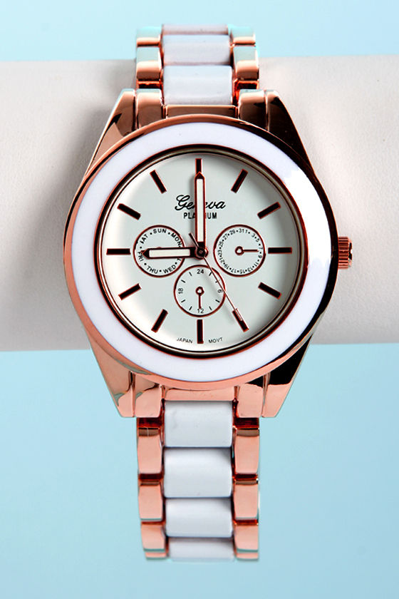 Time-y Dancer White and Gold Watch at Lulus.com!