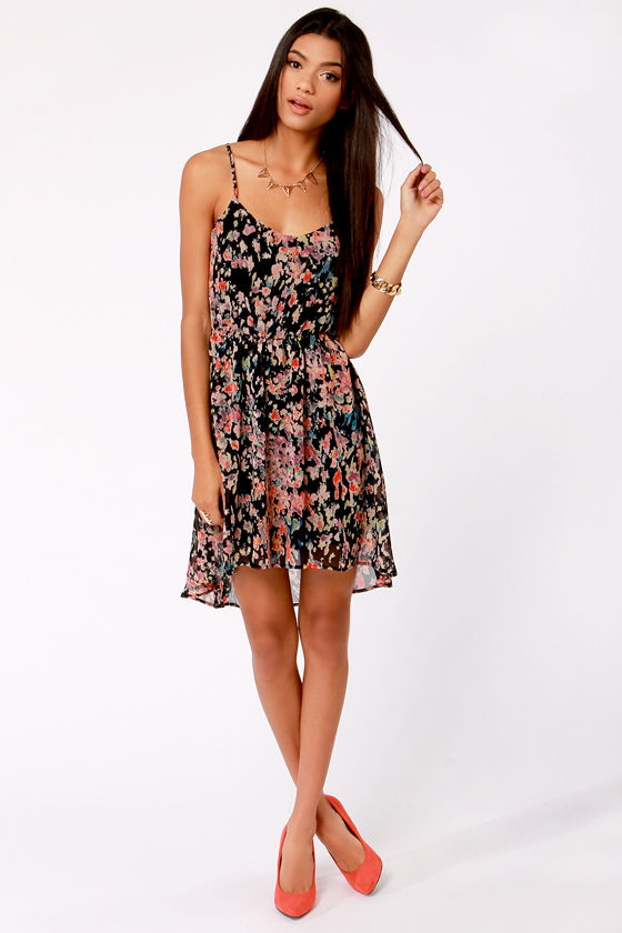 Splash Course Navy Blue Print Dress at Lulus.com!