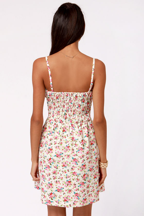 Lavand Bud-dy System White Floral Print Dress at Lulus.com!