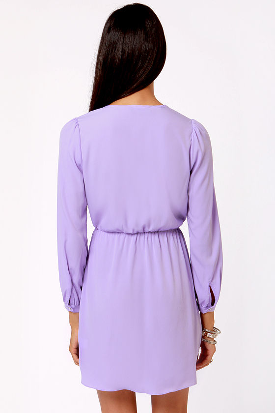 That's a Wrap Lavender Long Sleeve Dress at Lulus.com!