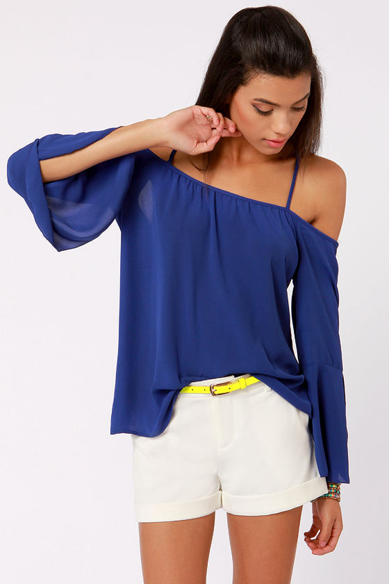 Electric Blue Tops