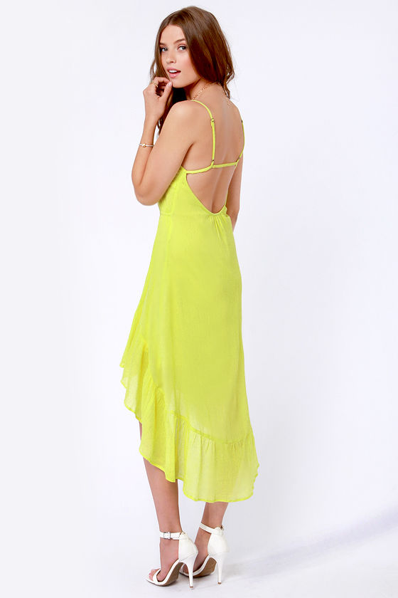 Element Eden Indio Neon Yellow Dress at Lulus.com!