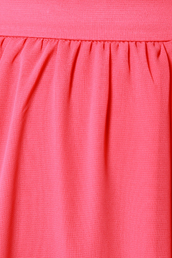 Floor de Lis Bright Coral Maxi Skirt at Lulus.com!