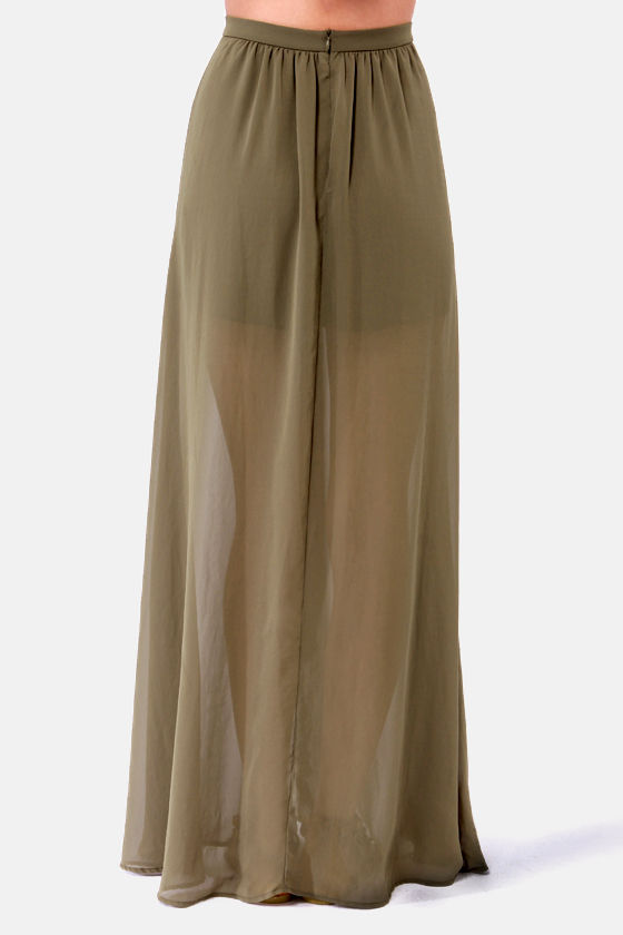 gorgeous olive green skirt maxi skirt 41 00