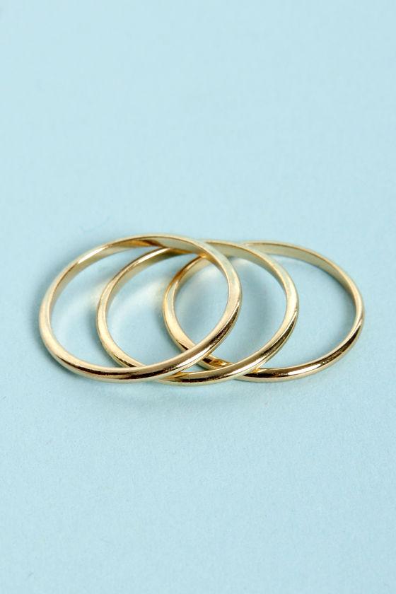 Trio Grande Gold Knuckle Ring Set at Lulus.com!