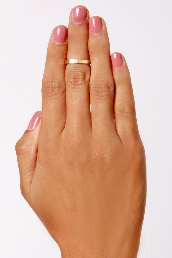 Doc Octagon Gold Knuckle Ring at Lulus.com!