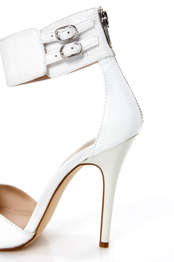 Chinese Laundry Joy Ride White Ankle Cuff High Heels at Lulus.com!