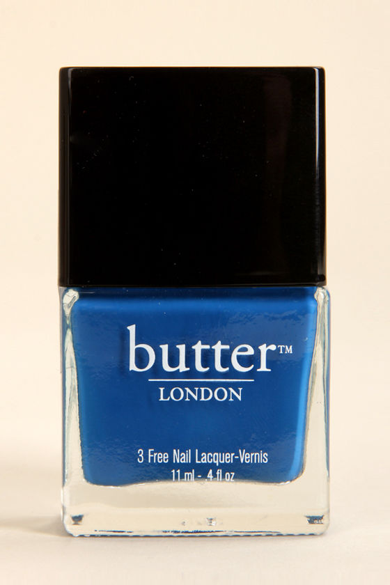 Butter London Blagger Blue Nail Lacquer at Lulus.com!