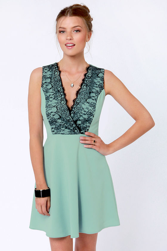 The Power of Lovely Seafoam Lace Dress at Lulus.com!