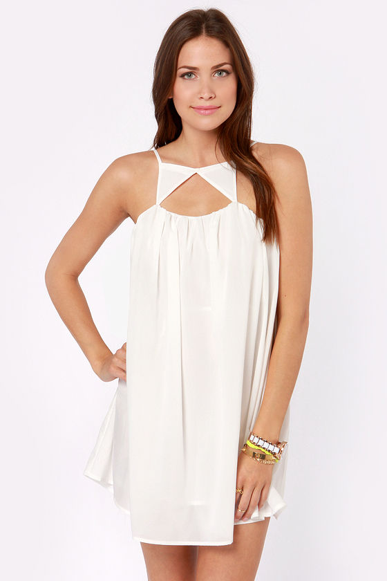 Caught on Shape White Dress at Lulus.com!