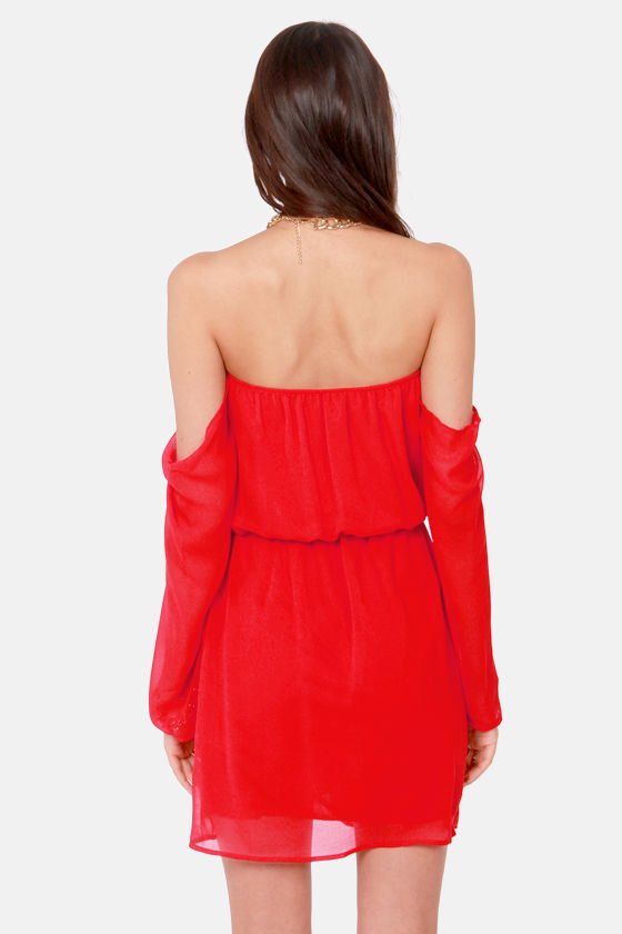 LULUS Exclusive Maiden Heaven Off-the-Shoulder Red Dress at Lulus.com!