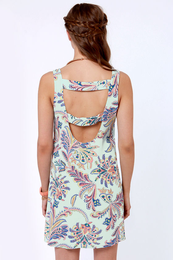 Lucy Love Sumatra Light Blue Print Dress at Lulus.com!