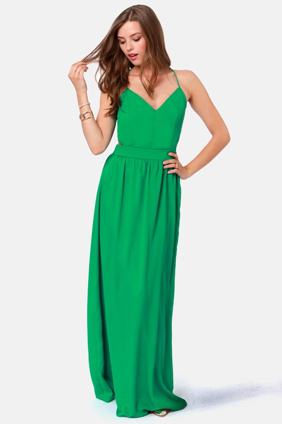 LULUS Exclusive Rooftop Garden Backless Jungle Green Dress at Lulus.com!