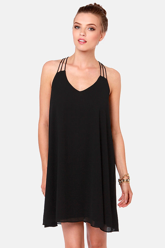 Little Black Dress - Strappy Dress - Backless Dress - $38.00