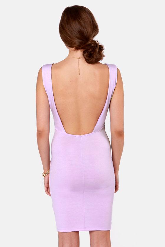 LULUS Exclusive Bateau-n Rouge Lavender Backless Dress at Lulus.com!