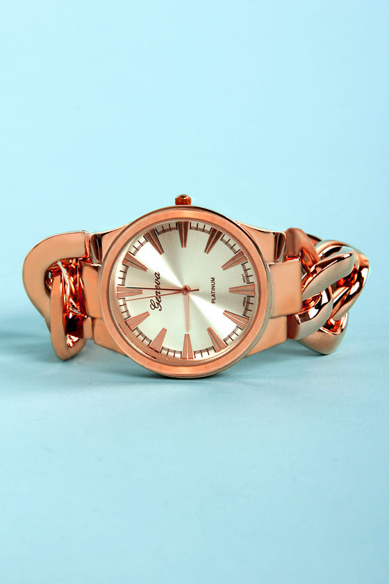 Time Chains Rose Gold Watch at Lulus.com!