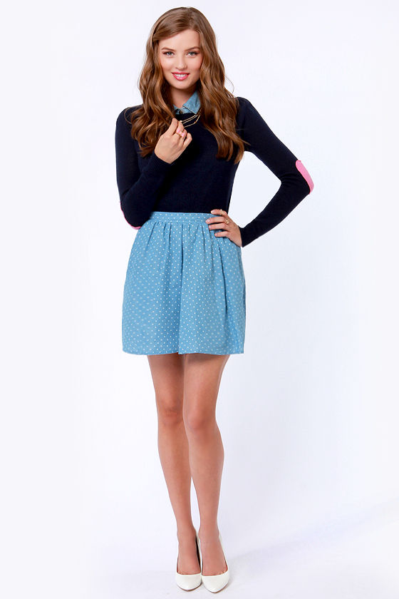 Heart On Your Sleeves Navy Blue Sweater at Lulus.com!