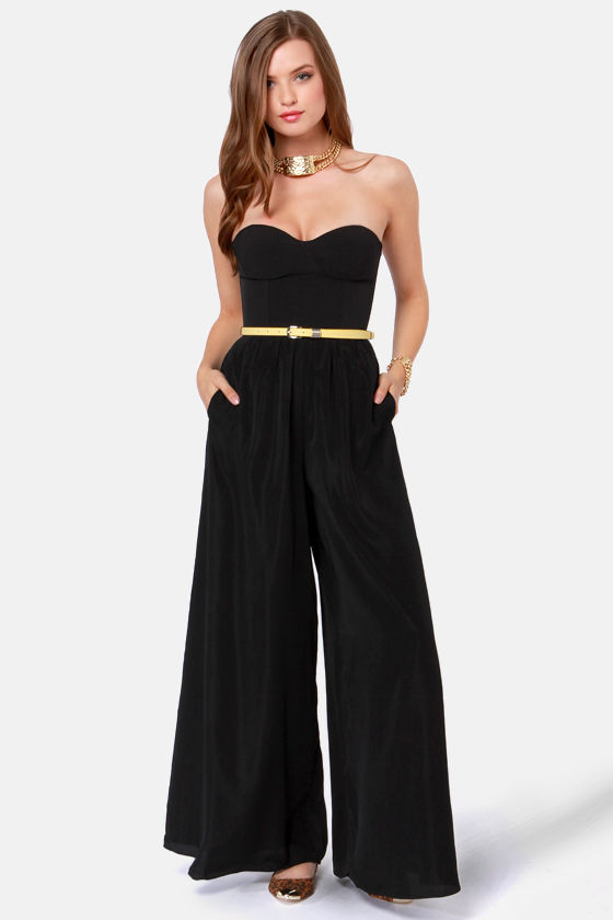 Ladakh Devotion Strapless Black Jumpsuit at Lulus.com!