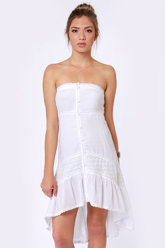 O'Neill Spirit Within White Lace Dress at Lulus.com!