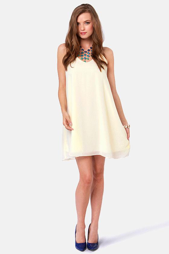 Strap-titude Test Cream Dress at Lulus.com!