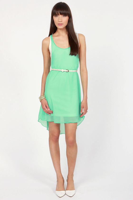 LULUS Exclusive Living on a Layer Mint Green and White Dress at Lulus.com!