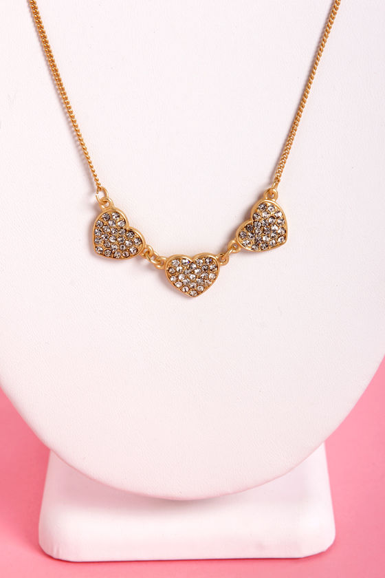 Spare Hearts Gold Heart Necklace at Lulus.com!