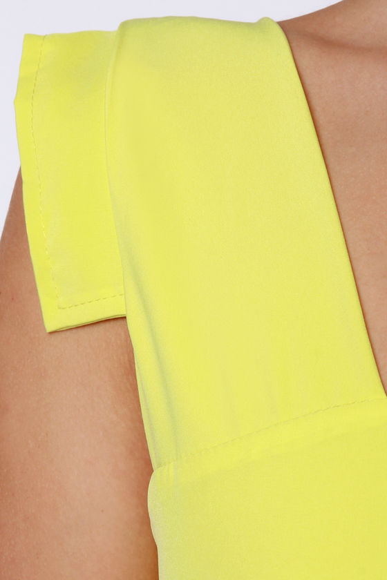 Lucy Love Lemon Drop Avenue Yellow Dress at Lulus.com!