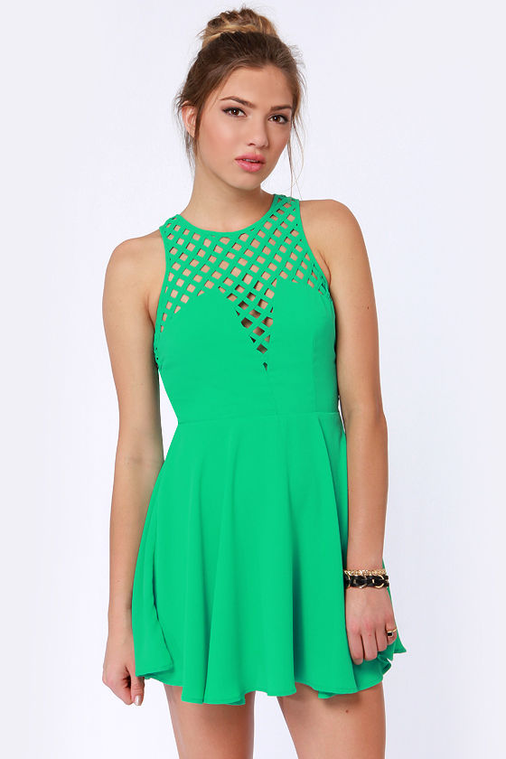 Daydream Be-Weaver Teal Dress at Lulus.com!