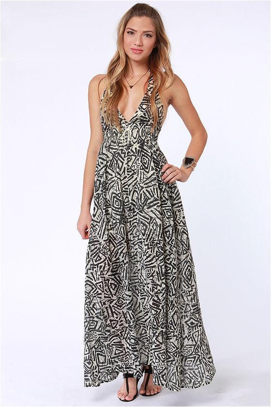 Billabong Let&-39-s Get Away Dress - Print Dress - Maxi Dress - $59.50