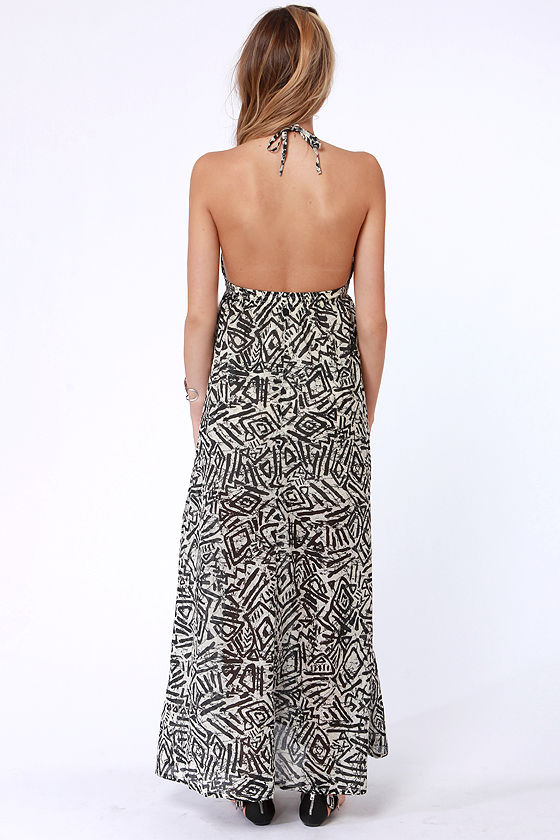 Billabong Let's Get Away Batik Print Maxi Dress at Lulus.com!