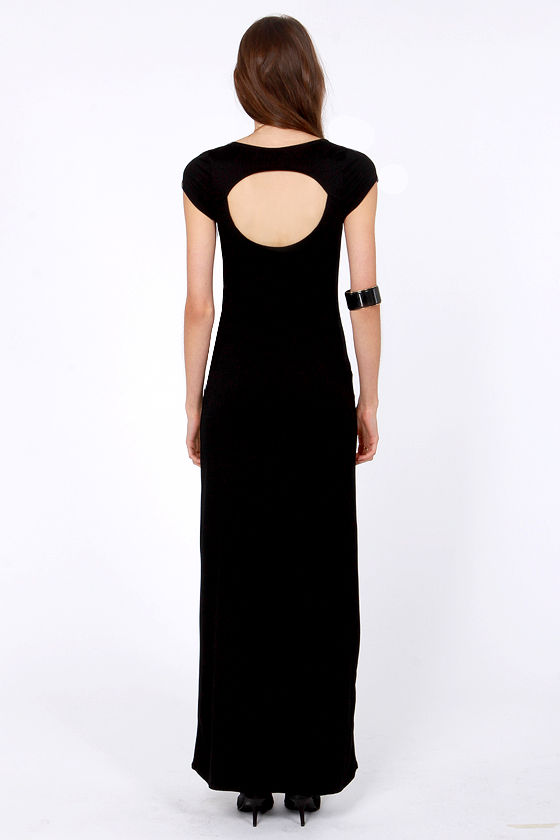Dressed to a Tee Black Maxi Dress at Lulus.com!