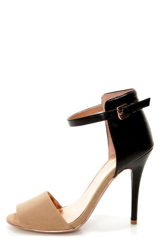 GoMax Calantha 01 Black and Tan High Rise High Heels - $37 ...