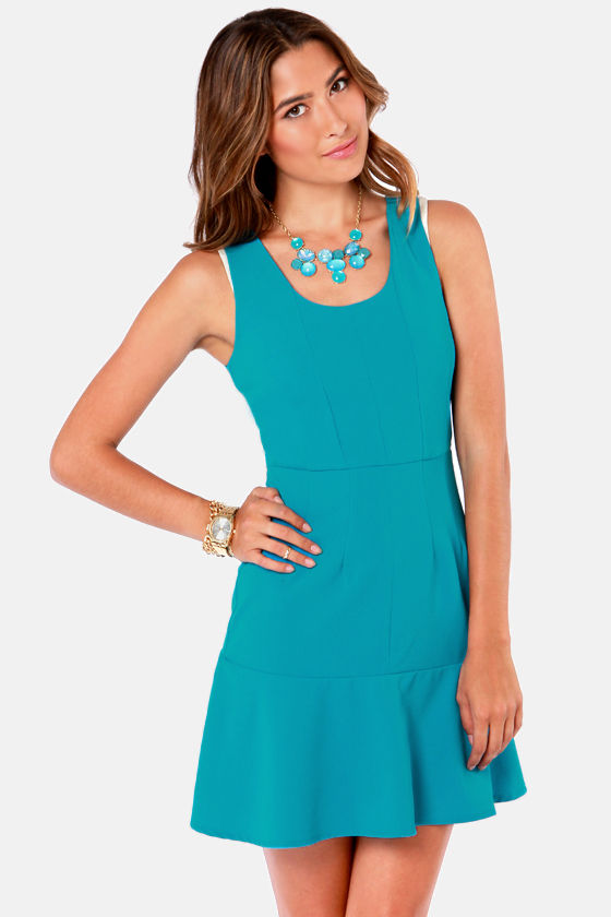 Ruffle the Deck Blue Dress at Lulus.com!