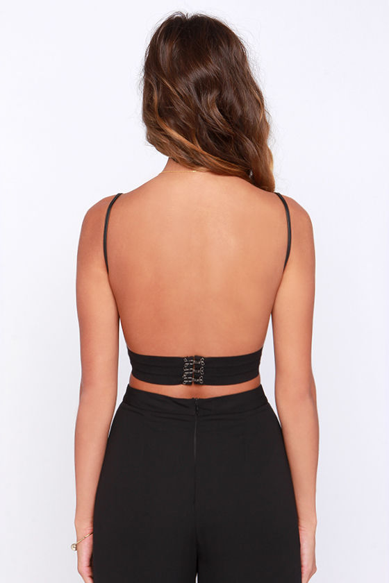 Highway to Hot Black Vegan Leather Bra Top at Lulus.com!