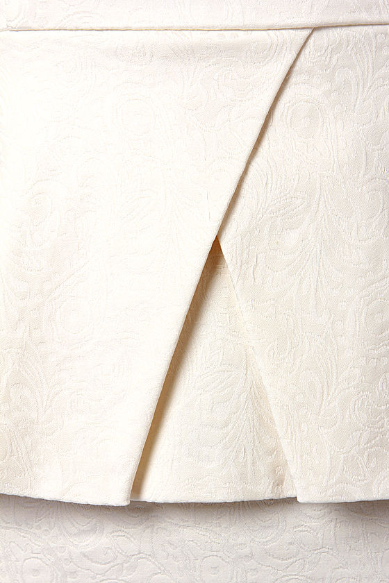 British Royal Jacquard Ivory Dress at Lulus.com!