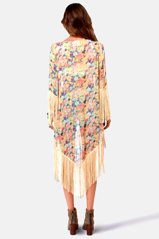 Mink Pink Summer Breeze Floral Print Kimono Top at Lulus.com!