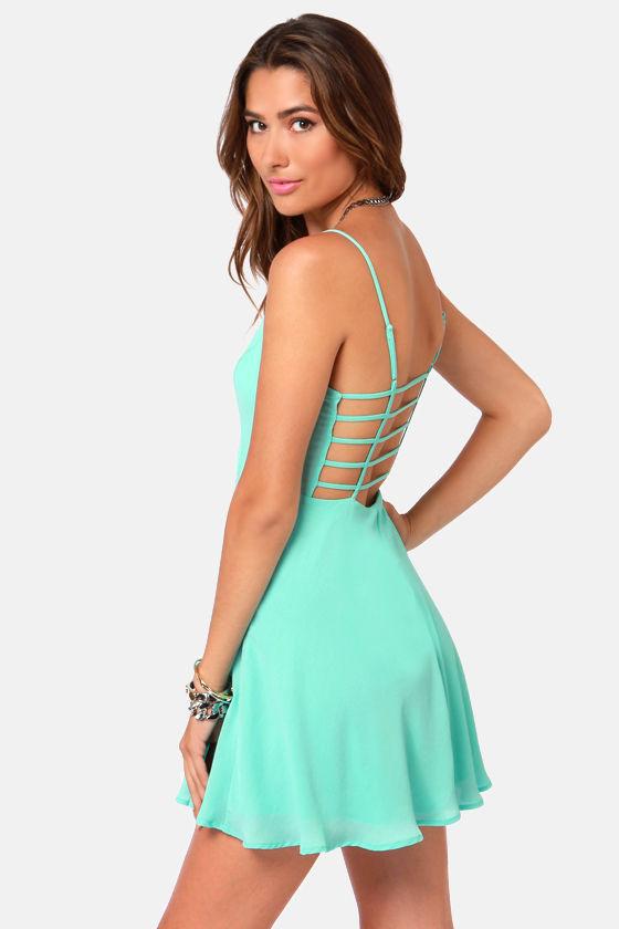 Cute Sky Blue Dress - Tank Dress - Backless Dress - $42.00