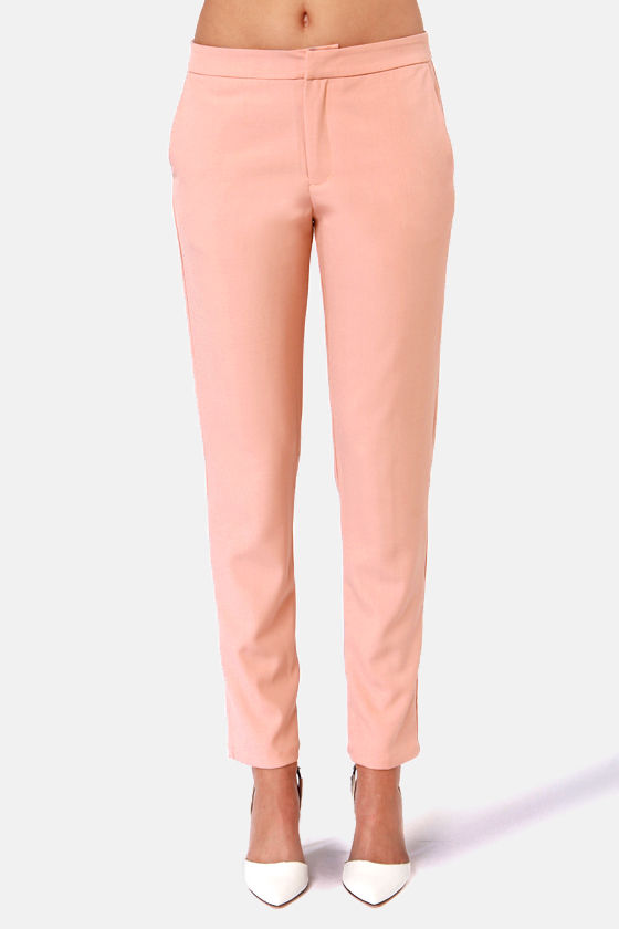 Good as Neutral Blush Pink Pants at Lulus.com!