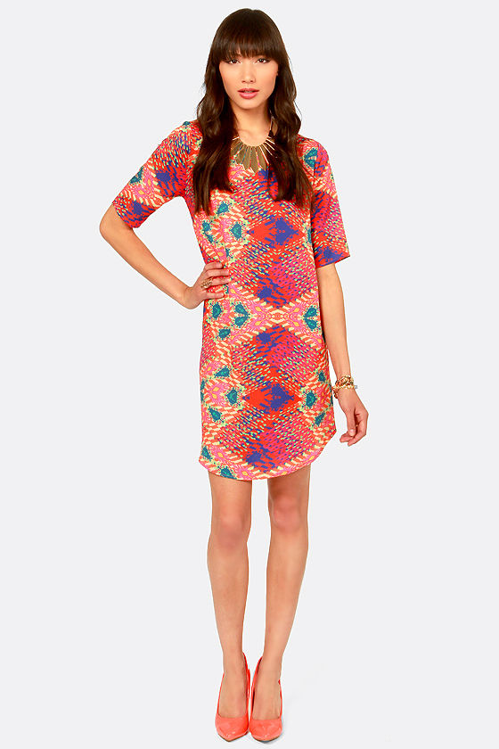 What's Your De-Sign? Print Shift Dress at Lulus.com!