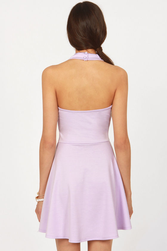 What a Crush Lavender Lace Halter Dress at Lulus.com!