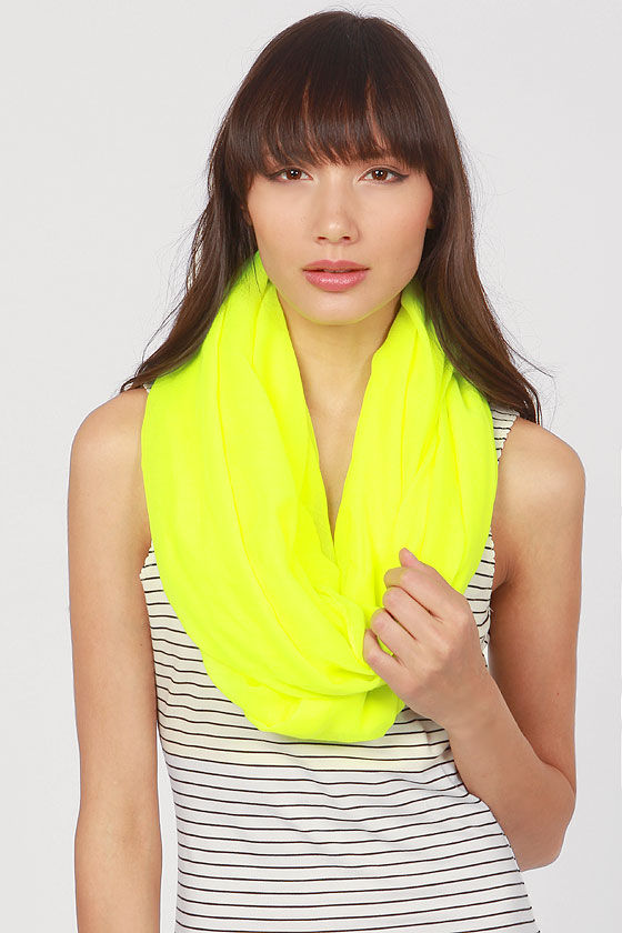 Kids Are All Bright Highlighter Yellow Infinity Scarf at Lulus.com!