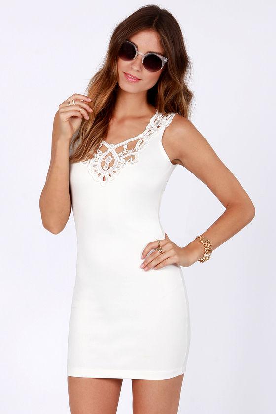 One Rad Girl Mariana Ivory Lace Dress at Lulus.com!