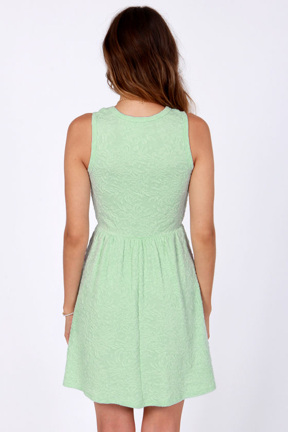 Jacquard-ed at the Door Mint Dress at Lulus.com!