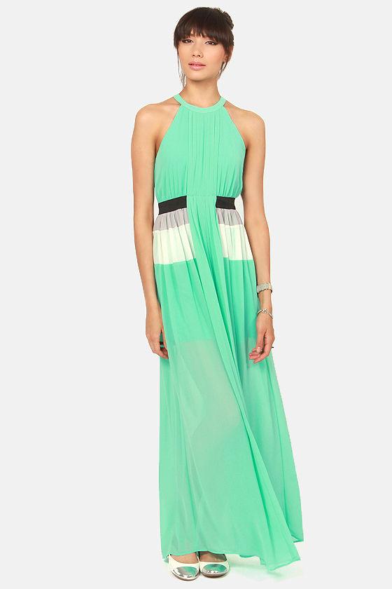 b8fef76999 Pretty Mint Green Dress - Maxi Dress - Pleated Dress - $50.00